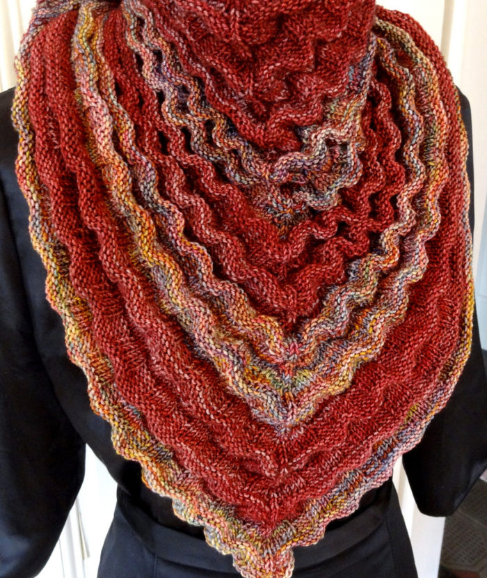 Free Knitting Pattern for Cereza Shawl
