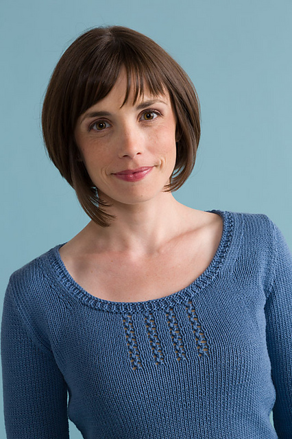 Free knitting pattern for Cerro Tee top