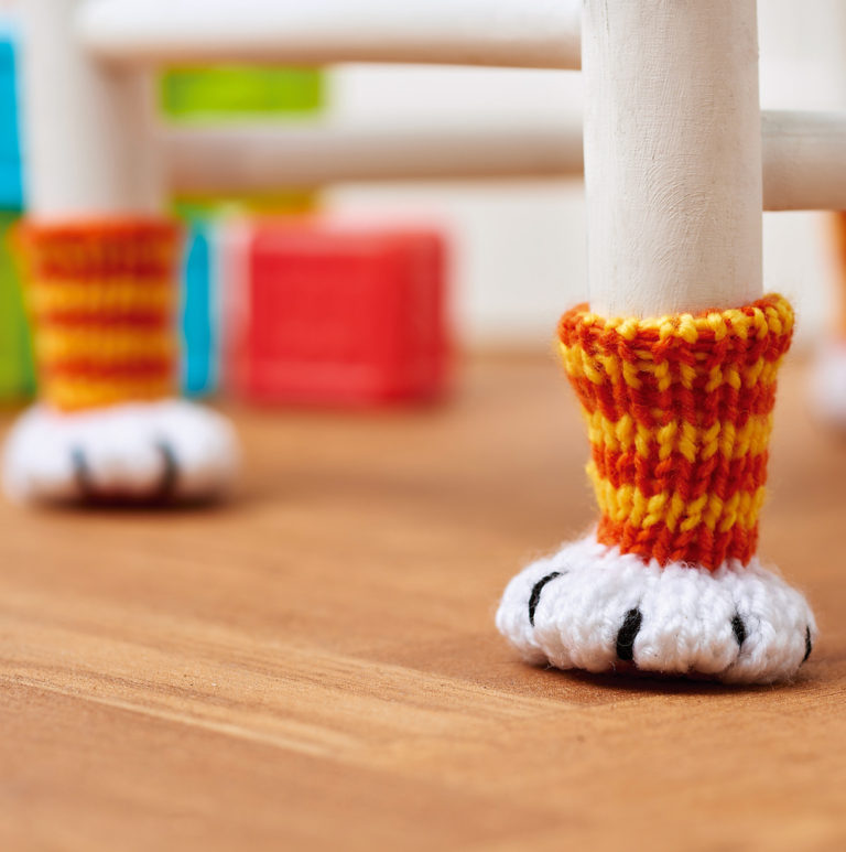 Free Knitting Pattern for Chair Paws