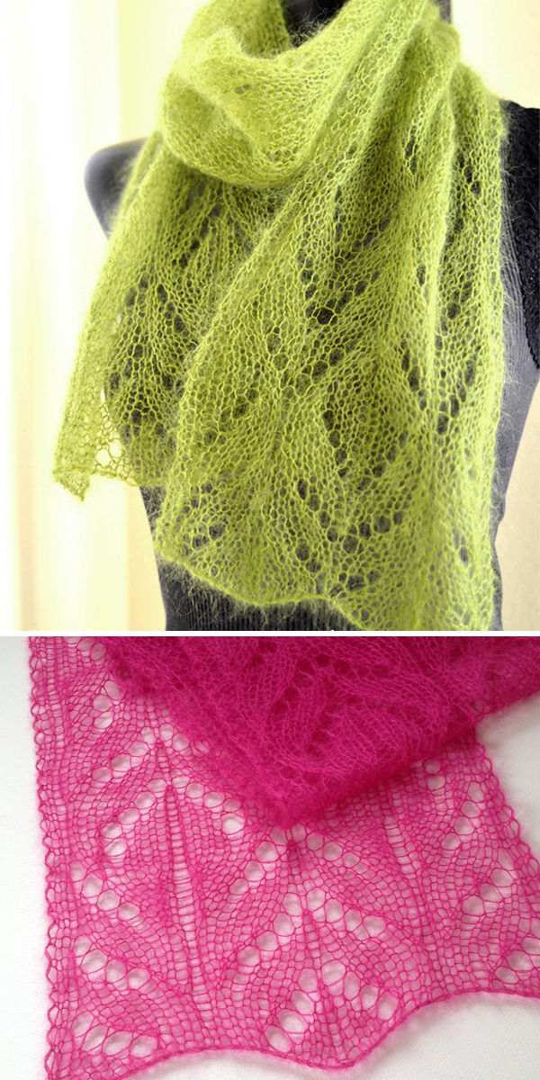 Knitting Pattern for One Skein Chalice Scarf