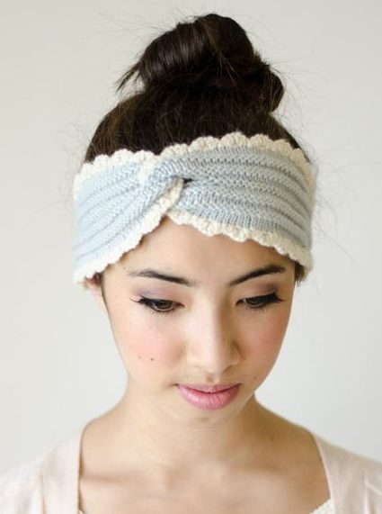 Knitting pattern for Chambray Headwrap