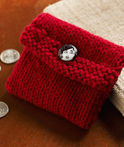 Knit Change Purse - Stockinette Stitch
