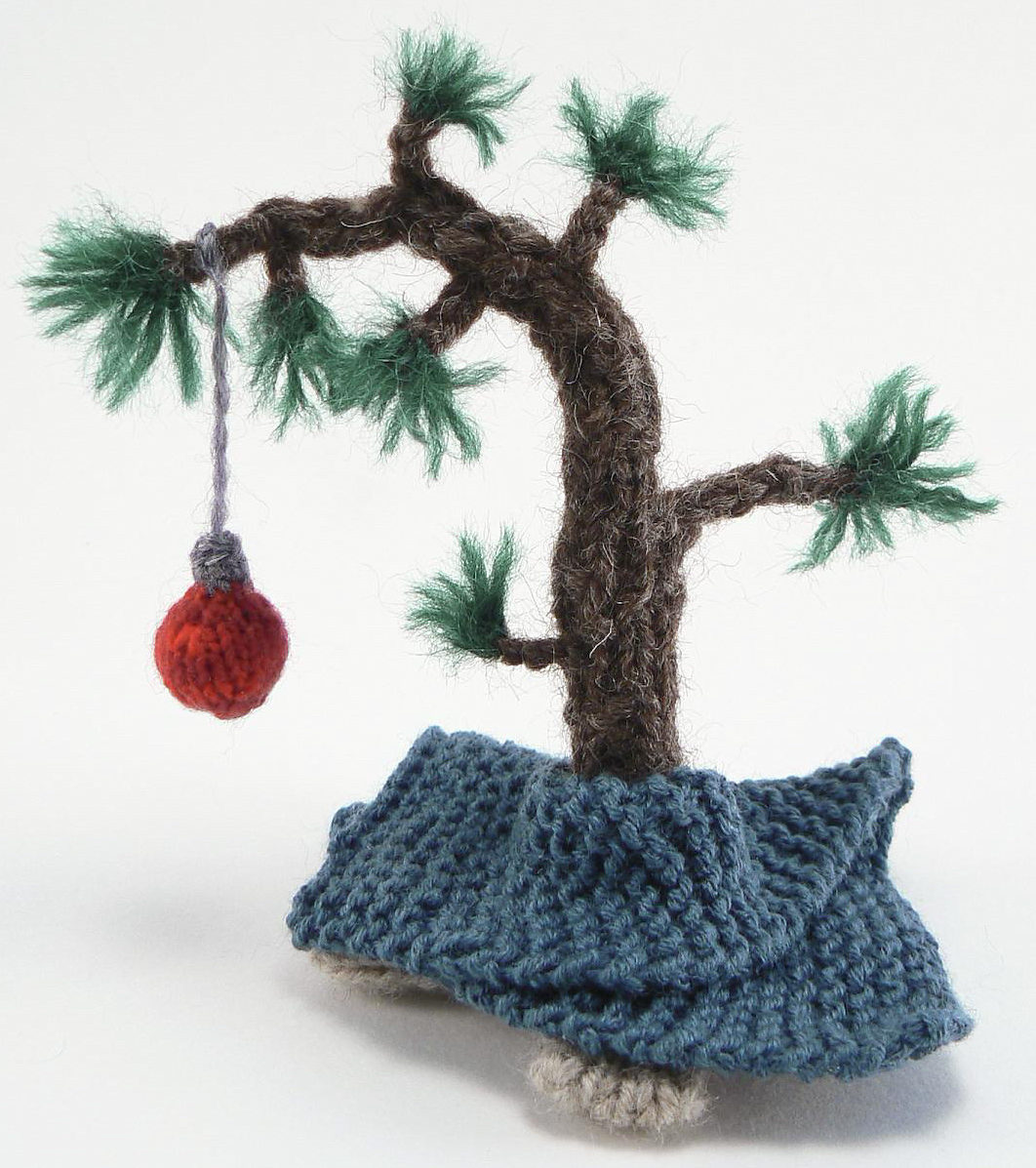 Knitting Pattern for Charlie Brown's Christmas Tree