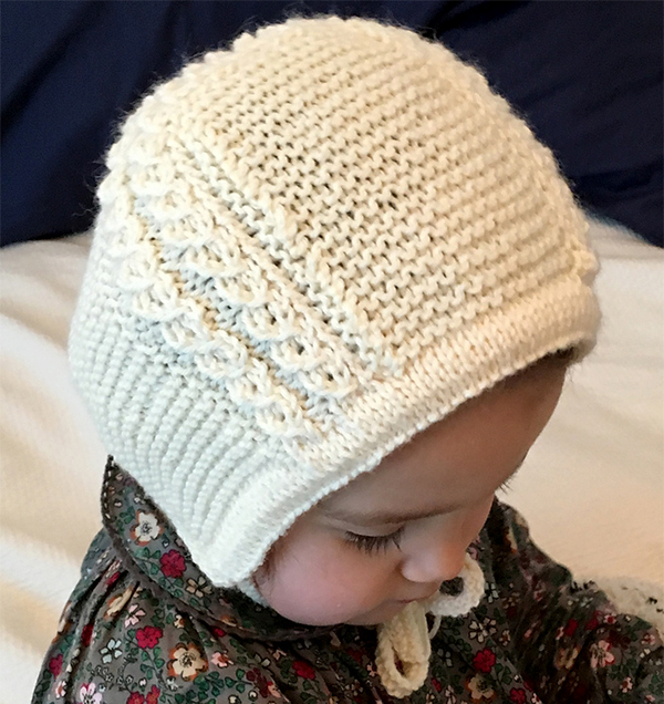Free Knitting Pattern for Princess Charlotte's Baby Bonnet