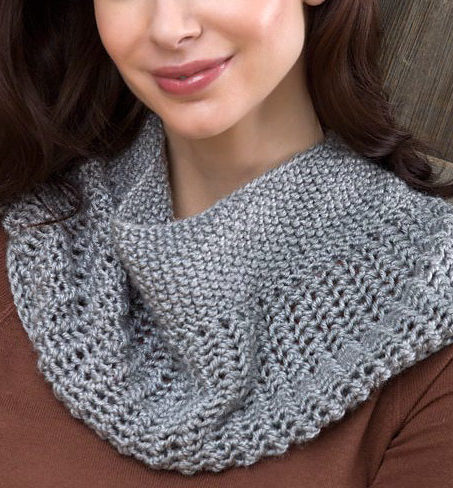Free Knitting Pattern for Easy Charming Cowl