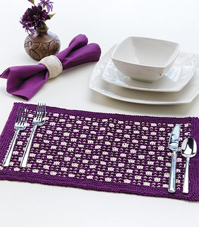 Free knitting pattern for Checkerboard Place Mat
