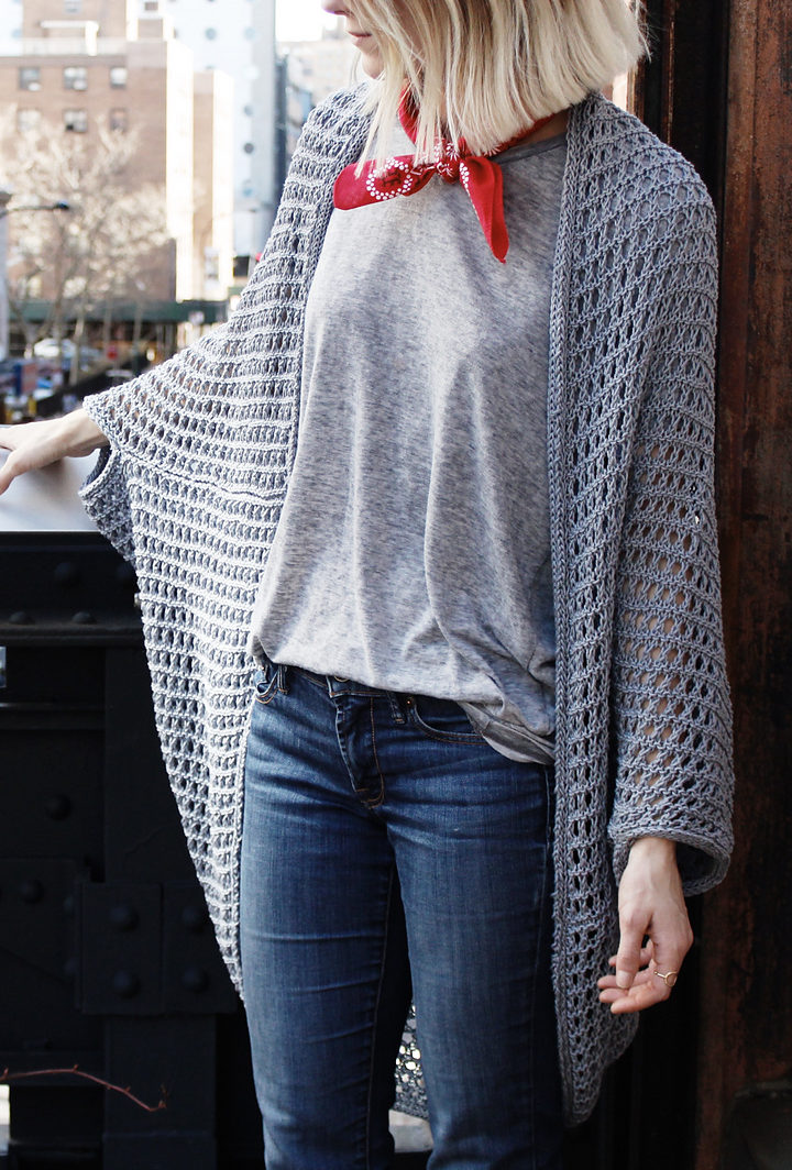 Free Knitting Pattern for Chelsea Cape