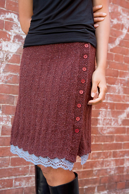 Knitting pattern for Chelsea Skirt