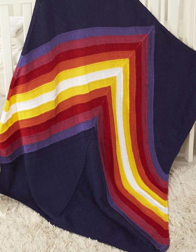 Free Knitting Pattern for Chevron Chase Blanket