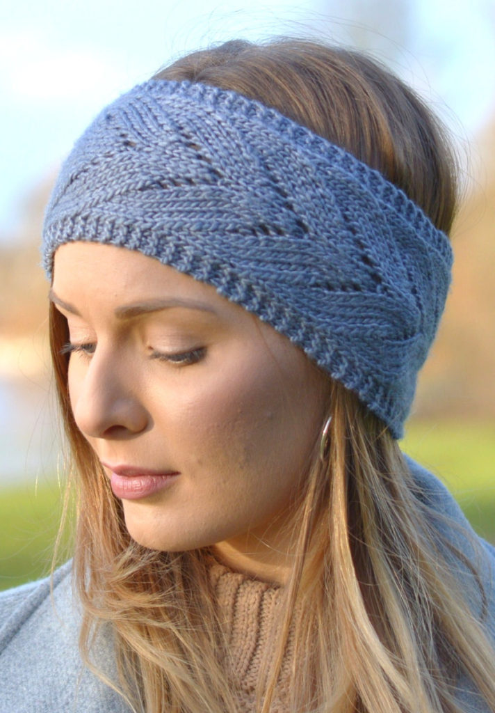Knitting Pattern for Chevron Lace Headband