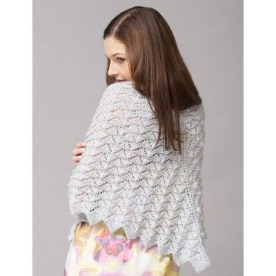 Free knitting pattern on Chevron Lace Scarf and Shawl and more chevron knitting patterns