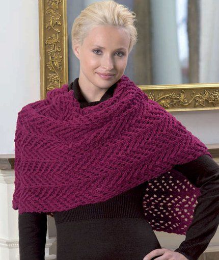 Free knitting pattern for Chevron Lace Shawl and more chevron knitting patterns