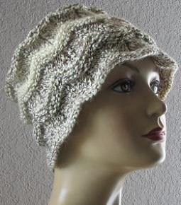 Free knitting pattern for Chevron Hat and more chevron knitting patterns
