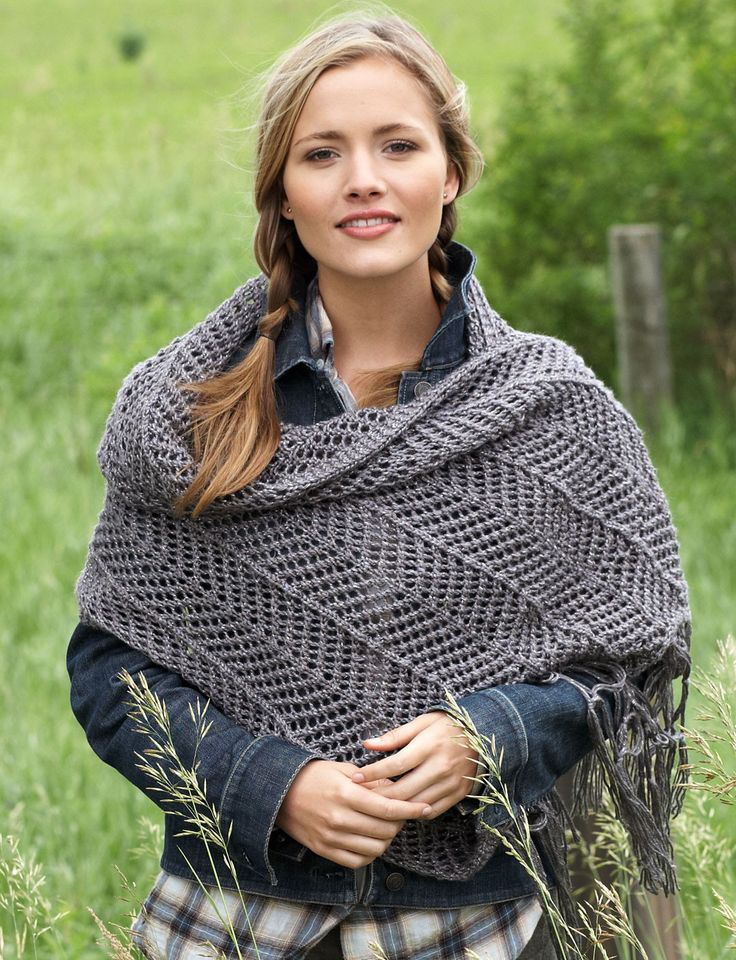 Chevron Shawl Free Knitting Pattern and more free shawl knitting patterns at http://intheloopknitting.com/textured-shawl-knitting-patterns/