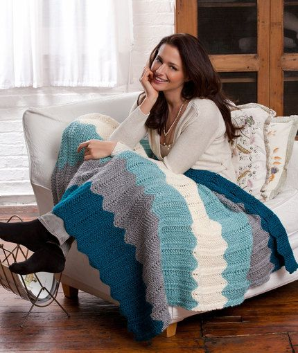 Free knitting pattern for Chevron Throw and more chevron knitting patterns