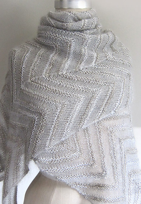 Free Knitting Pattern for Chevron Cloud Shawl