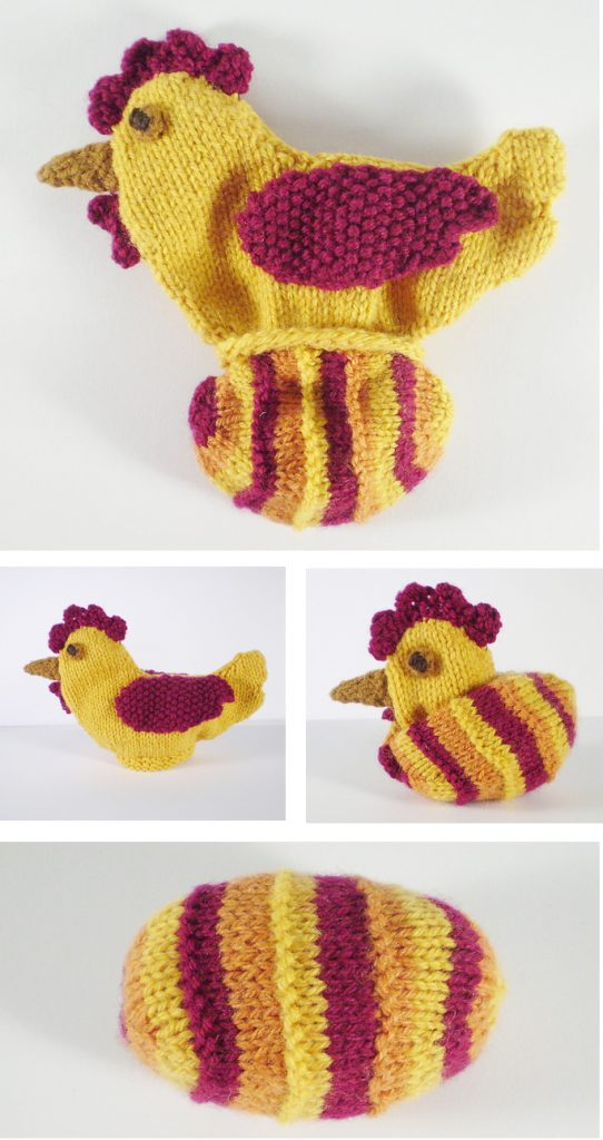 Free knitting pattern for Chicken and Egg Which Came First toy