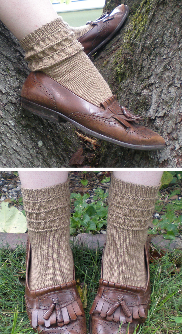 Free Knitting Pattern for Chiffon Socks