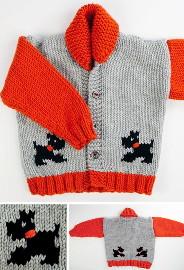 Free Knitting Pattern for Child's Chunky Dog Jacket