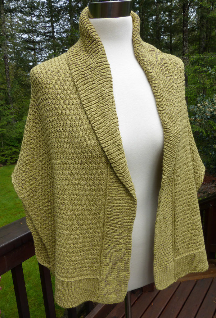 Free Knitting Pattern for Chill Begone Sweater Wrap