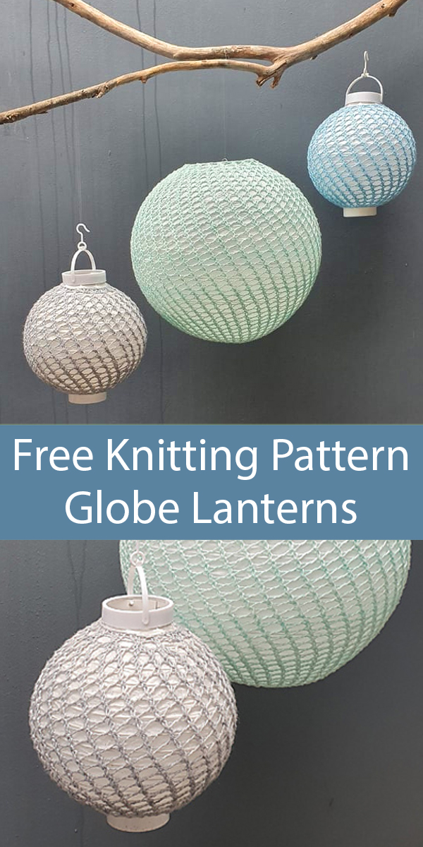 Free Knitting Pattern for Globe Lantern Covers