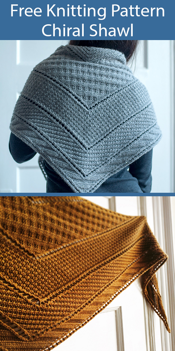 Free Knitting Pattern for Chiral Shawl