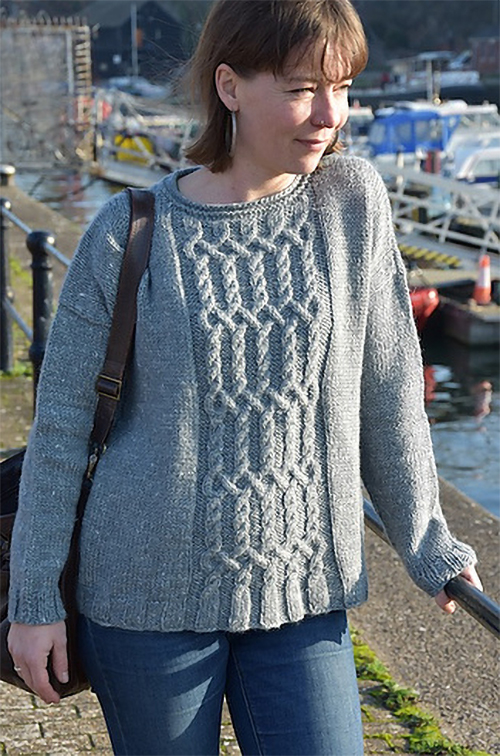Free until February 28, 2019 Knitting Pattern for Choucas Sweater