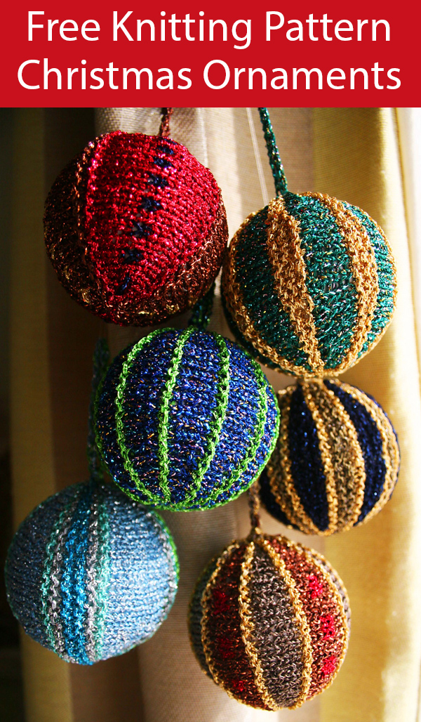 Free Knitting Pattern for Christmas Baubles