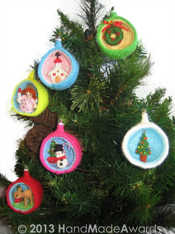 Christmas diorama balls and other knitting patterns