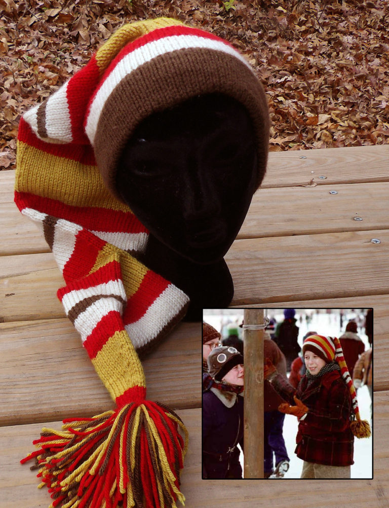 Free Knitting Pattern for Schwartz's Stocking Cap from A Christmas Story