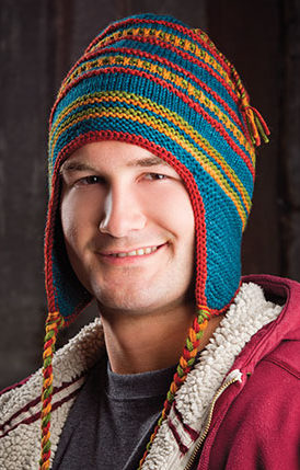 Knitting Pattern for Chromatic Earflap Hat