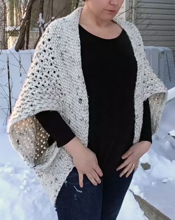 Free Knitting Pattern for 4 Row Repeat Chrysalis Cardigan