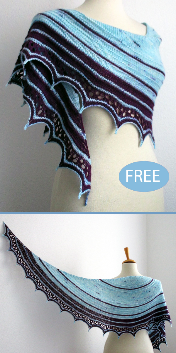 Free Knitting Pattern for Chucherías Shawl