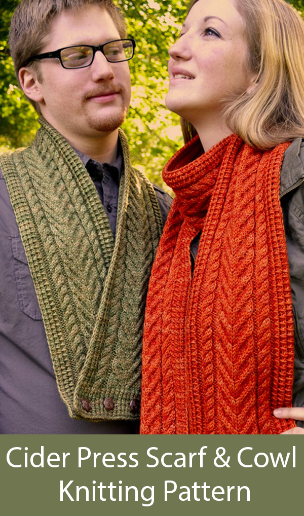 Knitting Pattern for Cider Press Scarf and Cowl