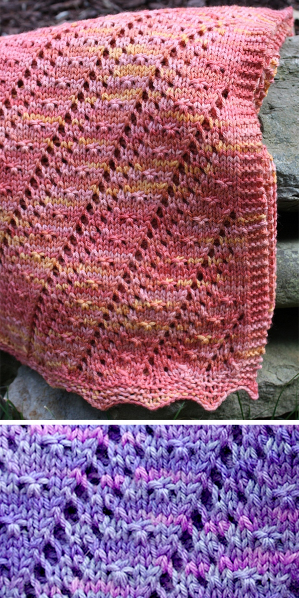 Knitting Pattern for 4 Row Repeat Cielito Baby Blanket