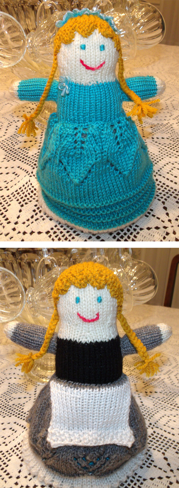 Free Knitting Pattern for Topsy Turvy Doll