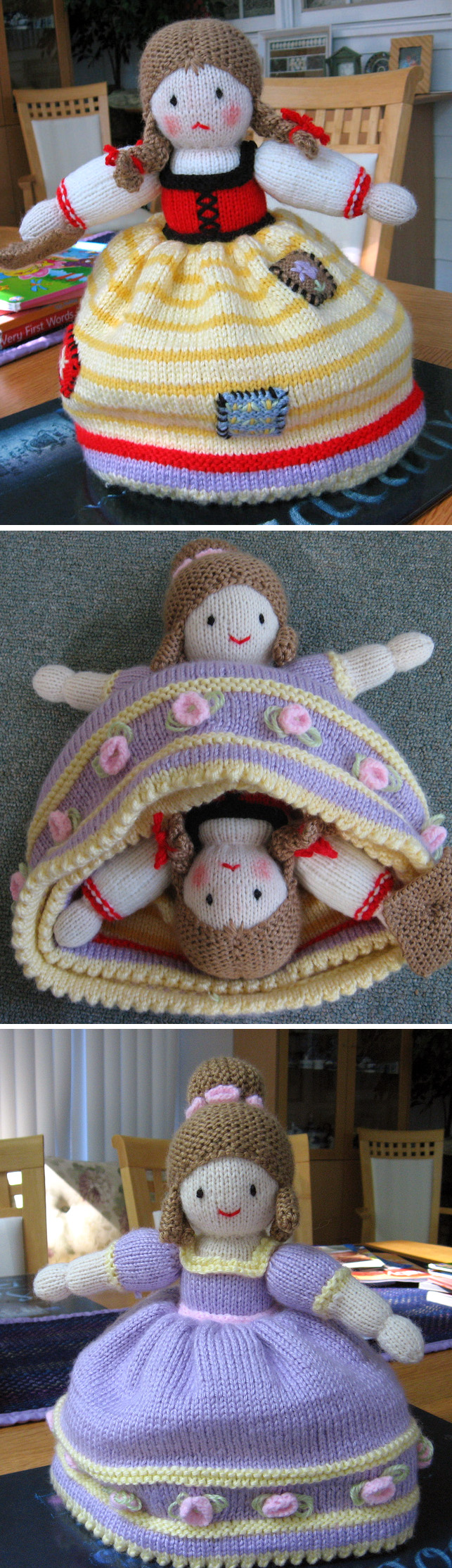 Knitting Pattern for Cinderella Topsy Turvy Doll