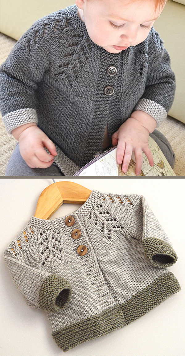 Knitting Pattern for Ciqala Arrowhead Baby Sweater