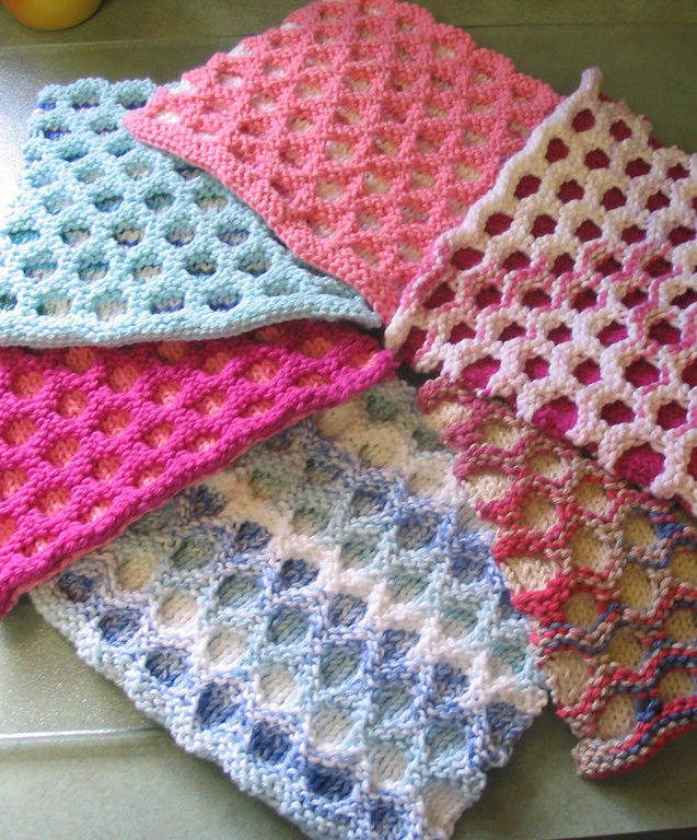 Free Knitting Pattern for Circle Cloth