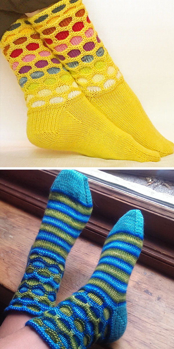 Free Knitting Pattern for Easy Circle Socks