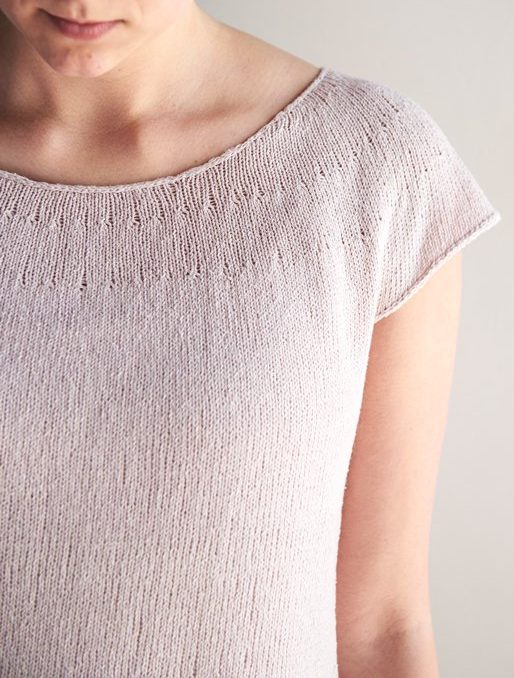 Free Knitting Pattern for Circular Yoke Summer Shirt