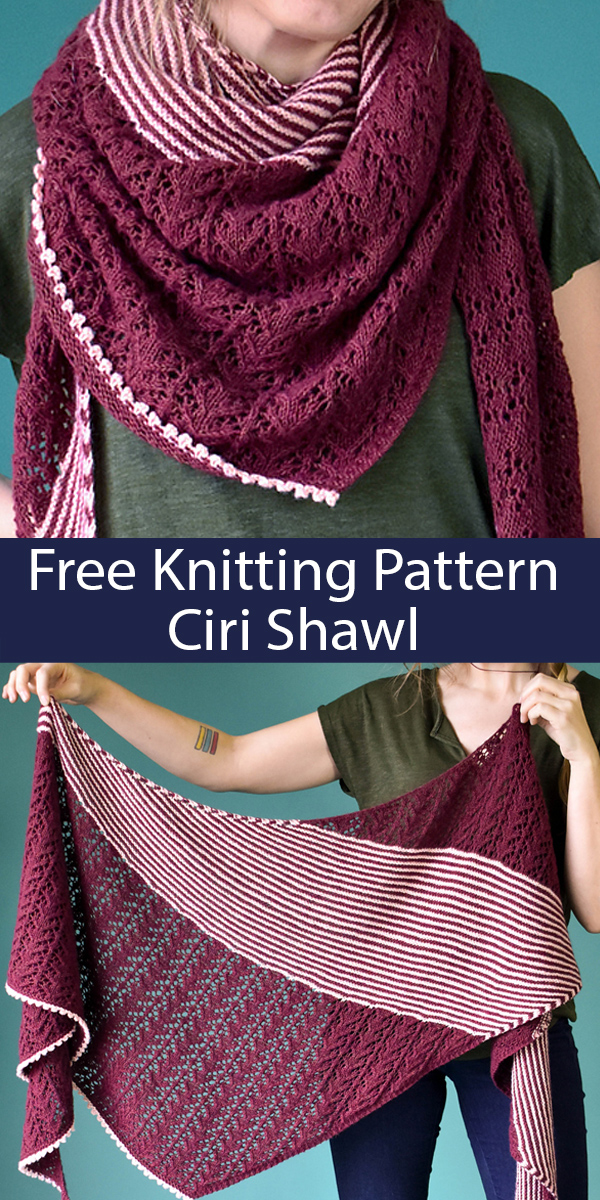 Free Knitting Pattern for Ciri Shawl