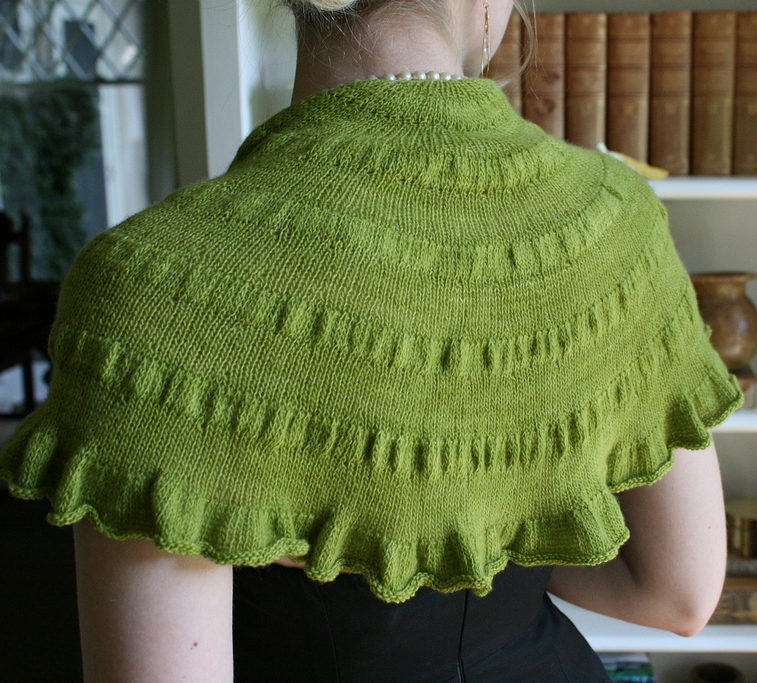 Free Knitting Pattern for Easy One Skein Citron Shawl