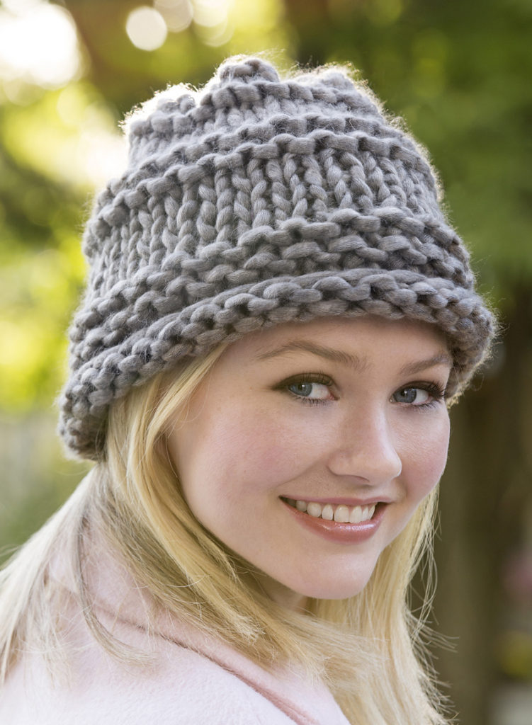Free Knitting Pattern for One Skein City Chic Hat