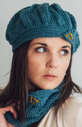Knitting Pattern for City Mouse Beret and Cowl