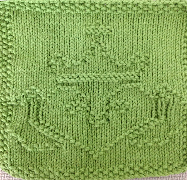 Free Knitting Pattern for Claddagh Cloth