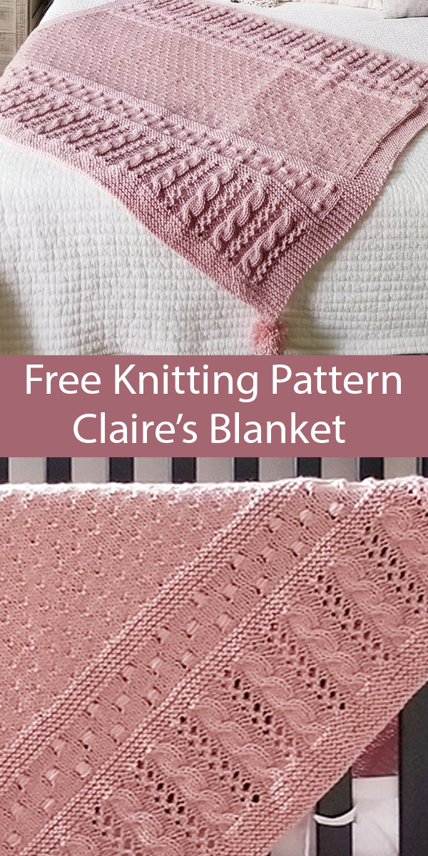 Free Easy Knitting Pattern for Claire's Baby Blanket
