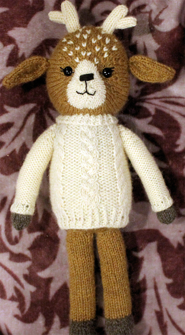 Knitting Pattern for Clara the Fawn