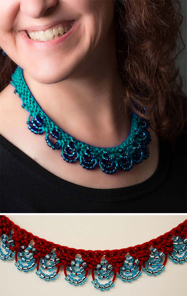 Knitting Pattern for Clarisse Necklace