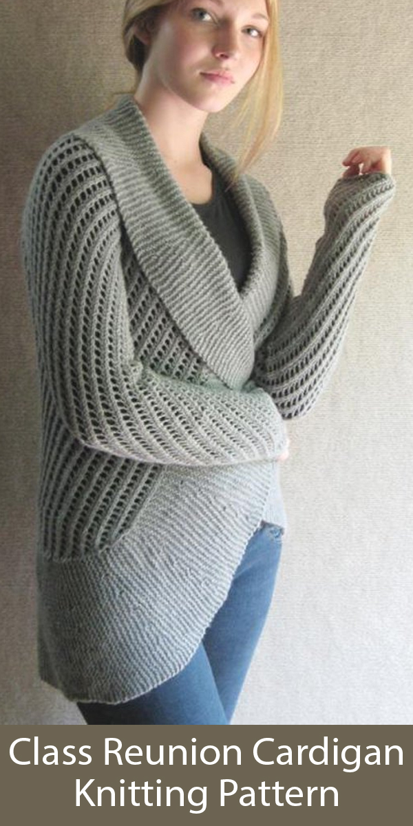 Knitting Pattern for Class Reunion Cardigan